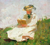 Franz Marc - Woman Reading Outdoors