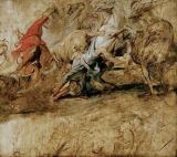 Peter Paul Rubens - Lions hunt, sketch