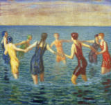Franz von Stuck - Women Bathing