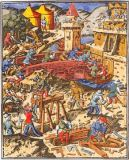 Buchmalerei - Siege / after French illumination c.1460