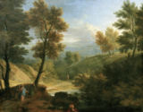 Franz-Joachim Beich - F.J.Beich, Landscape with path to Emmaus