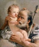 Giovanni Domenico Tiepolo - Saint Joseph and the Boy Jesus