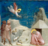 Giotto di Bondone - Joachim's Dream / detail 1