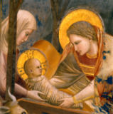 Giotto di Bondone - Birth of Christ / detail