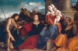 Palma Vecchio - Mary with Child, Saint Joseph, John the Baptist and Saint Catherine of Alexandria