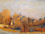 Alfred Sisley - Frosty Morning in Louveciennes, 1873