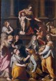Alessandro Allori - Mary and Child, the boy John and eight female Saints