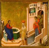 Duccio di Buoninsegna - Duccio, Christ and the Samaritan