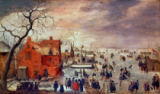 Hendrick Avercamp - Eislandschaft