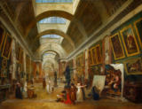 Hubert Robert - View of the Grand Gallery of the Louvre, 1796