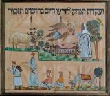 19. Jahrhundert - Painting from Safed,Palestine. The story