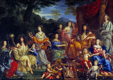 Jean Nocret - Louis XIV and the royal family