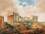 Christian Hansen - View of the Parthenon with the mosque from the northwest