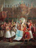 Theodoros Vryzakis - The Bishop of Old Patras Germanos Blesses the Flag of the Greek War of Independence
