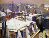 Gustave Caillebotte - Rooftops in the snow