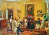 Max Liebermann - The Artist and his Family in his house on the Wannsee