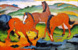 Franz Marc - The Red Horses (Grazing Horses IV)