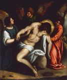 Jacopo Palma  il Giovane - The dead Christ, supported by angels