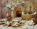 Karl Friedrich Lessing - Monastery Garden in the Snow