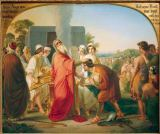 Moritz Daniel Oppenheim - Moses gives command to Joshua