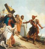 Giovanni Domenico Tiepolo - Carrying the Cross: Veronica with the cloth