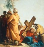 Giovanni Domenico Tiepolo - Carrying the Cross: Christ falls beneath the Cross for the second time
