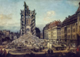 Bernardo Bellotto - Dresden in ruins after Prussia's invasio