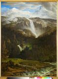 Joseph Anton Koch - Schmadribach waterfall in the Lauterbrun II