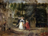 Peter Paul Rubens - Rubens and his second wife in the garden
