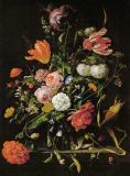 Jan Davidsz. de Heem - Still-life with flowers. Oil on canvas S