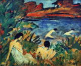Otto Mueller - Pond with Bathers