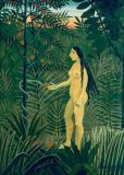 Henri J.F. Rousseau - Eve receives the Apple
