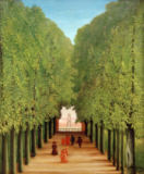 Henri J.F. Rousseau - The Allee in Parc à Saint-Cloud
