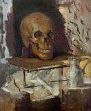 Paul Cézanne - Skull and jug