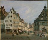 Michel Hertrich - A view of Colmar,Alsace,France. Oil on c