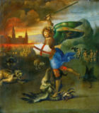 Raphael - The Archangel Michael fighting with the dragon