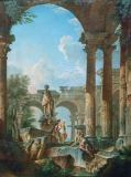 Giovanni Paolo Pannini - Ideal view with ruins