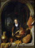 Gerrit or Gerard Dou - Cleaning carrots