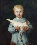 Albert Anker - Maurice Anker with cockerel