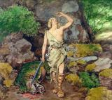 Hans Thoma - Siegfried having defeated the Dragon