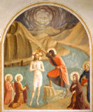 Fra Angelico - Baptism of Christ with Mary and Saint Dominic