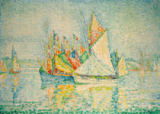 Paul Signac - Concarneau, ( Le Port)