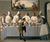 Francisco de Zurbaran - St. Hugh of Grenoble in the refectory of the Carthusians
