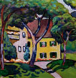 August Macke - Staudacherhaus in Tegernsee