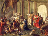 Giovanni Battista Pittoni - Crassus plunders the Temple of Jerusalem