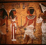 Ägyptische Malerei - Tutankhamun and wife / Wall painting