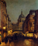 John Atkinson Grimshaw - St.Paul's from Ludgate Circus