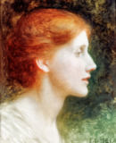 Sir Frank Dicksee - Portrait of Agnes Mallam (Mrs Edward Foster