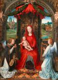 Hans Memling - Madonna and Child Enthroned with Two Angels, 1480