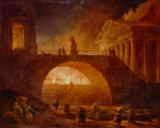 Hubert Robert - Brand in Rom